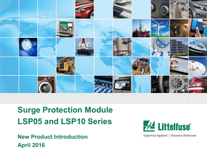 Surge Protection Module LSP05 and LSP10 Series