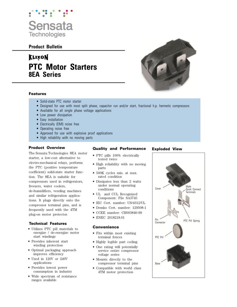 PTC Motor Starters - Sensata Technologies on