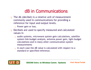 dB in Communications