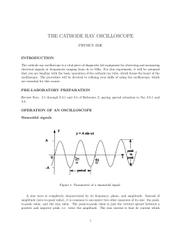 The Cathode-Ray Oscilloscope (rev = revised for new textbook)