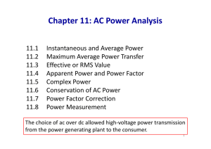 Chapter 11: AC Power Analysis
