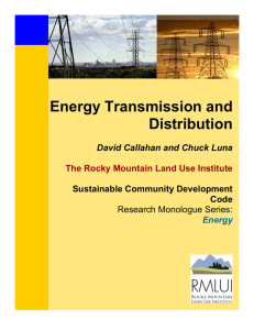 Energy Transmission and Distribution