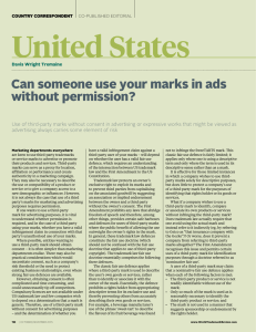 Can someone use your marks in ads without permission?