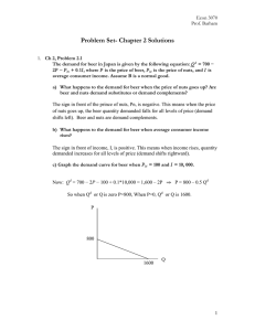 Problem Set- Chapter 2 Solutions