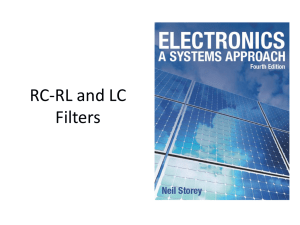 RC-RL Filters
