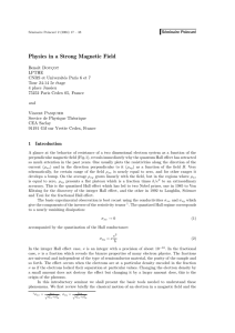 Physics in a Strong Magnetic Field