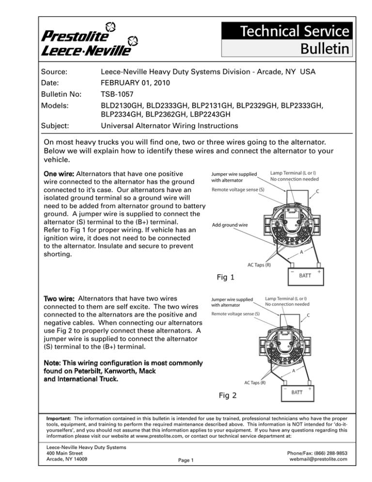Universal Alternator Wiring Diagrams | Drive Works Alternator Wire Diagram 1 |  | StudyLib