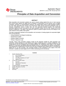 Principles of Data Acquisition and Conversion