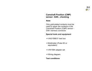 DTC P0340 Camshaft Position Sensor Circuit Malfunction DTC