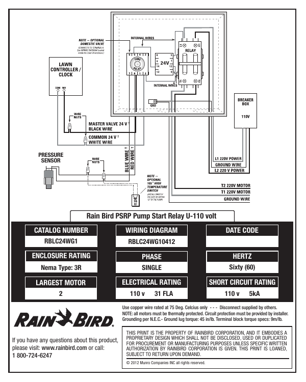 on rain bird pump relay wiring diagram