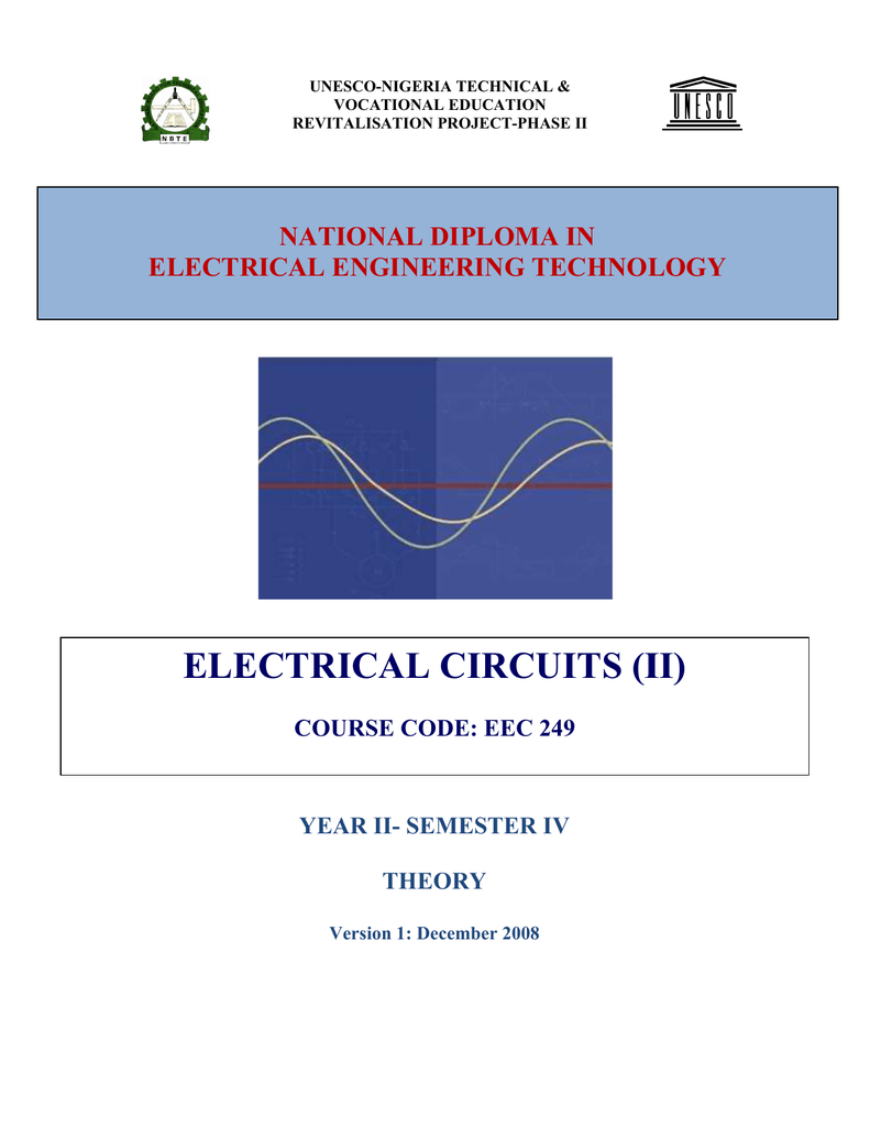 Eec 249 Electric Circuit 2 Theory Unesco 100v 1 Phase Wiring Diagram