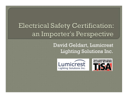 Electrical Safety Certification Issues From an