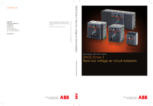 SACE Emax 2 New low voltage air circuit-breakers