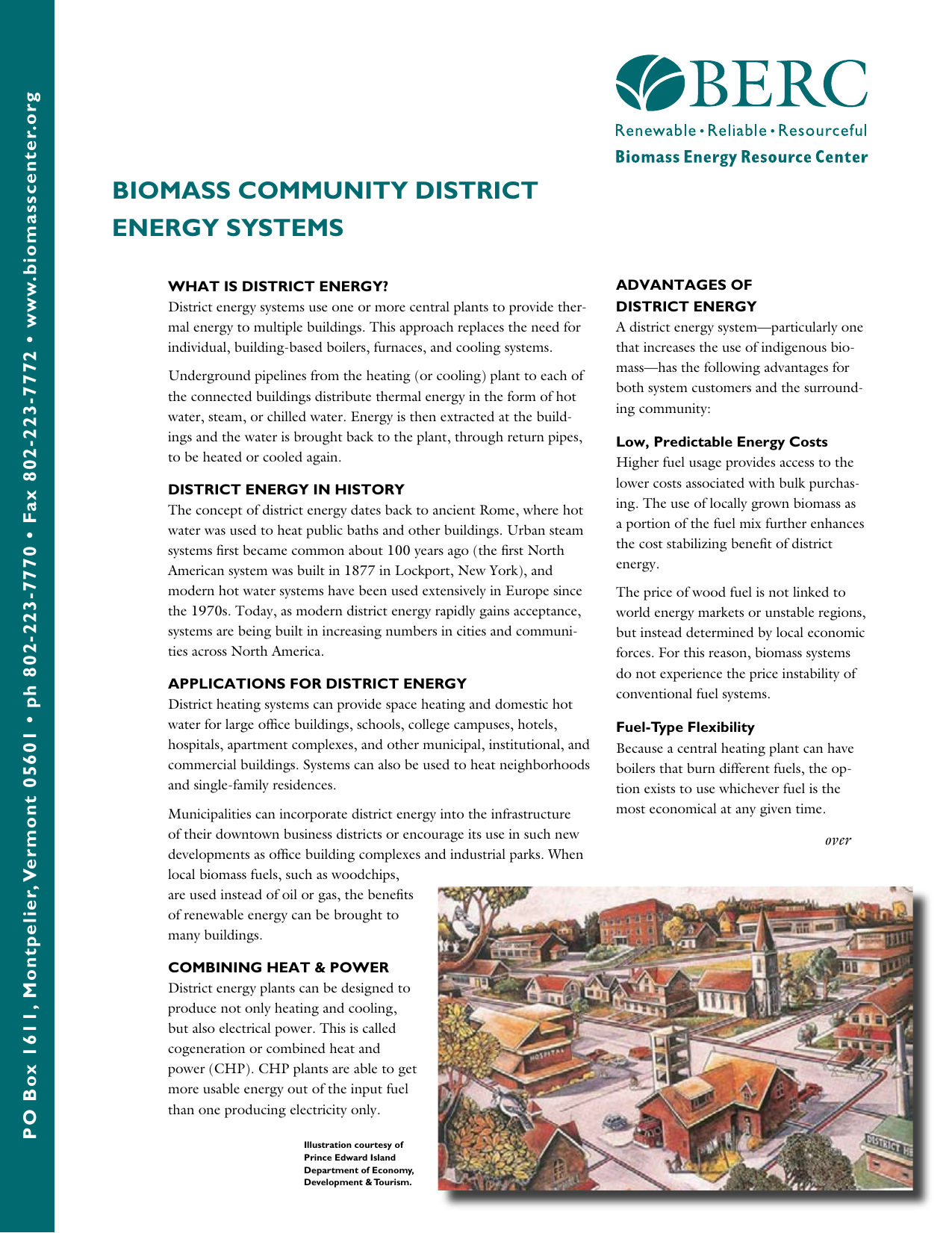 BIOMASS cOMMunIty DIStRIct EnERGy SyStEMS