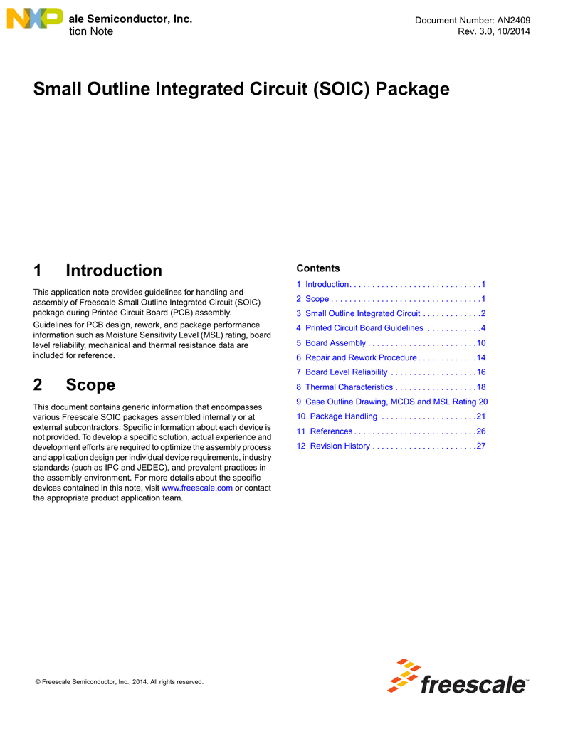 An2409 Small Outline Integrated Circuit Soic Package Circut First Board Shortcircuit Protection For Sale