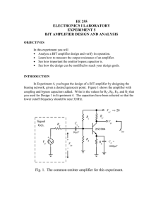 ee 255 electronics i laboratory experiment 5 bjt amplifier design and