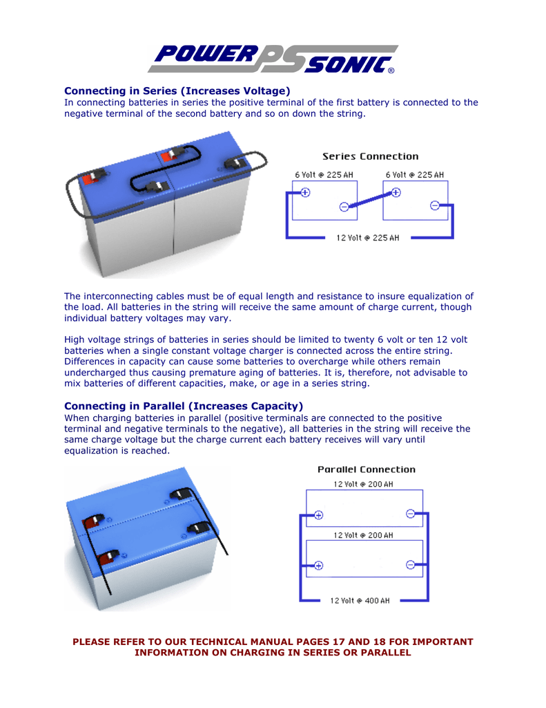 Connecting In Series Increases Voltage Power And Parallel Wiring Battery Bank