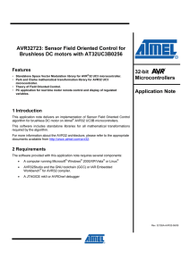 AVR32723: Sensor Field Oriented Control for Brushless DC