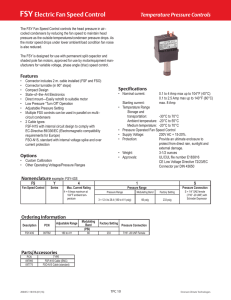 FSY Electric Fan Speed Control