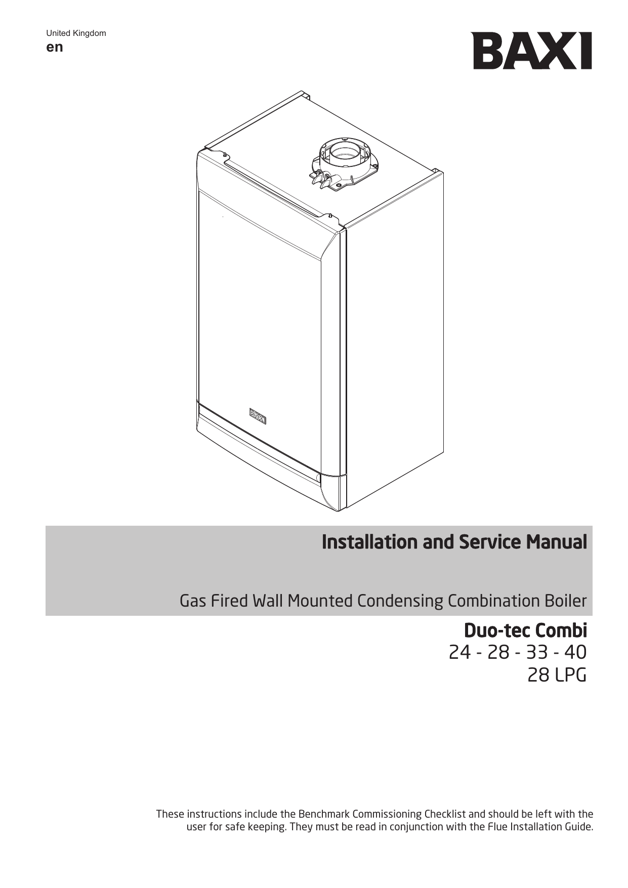 Baxi Duo-Tec Installation and Service Manual