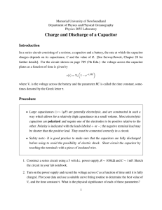 Charge and Discharge of a Capacitor