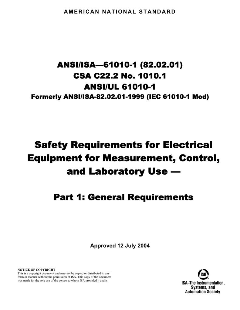 on ansi hazard wiring short circuit