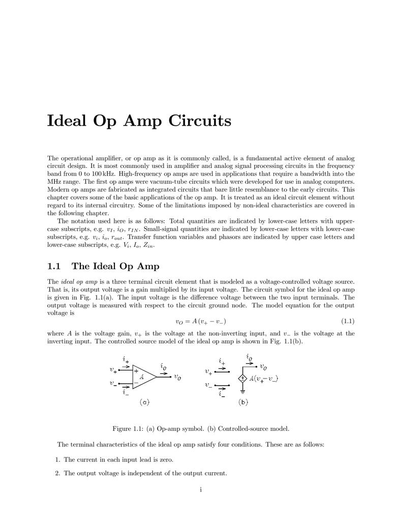 Ideal Op Amp Circuits