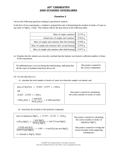 ap® chemistry 2008 scoring guidelines - AP Central