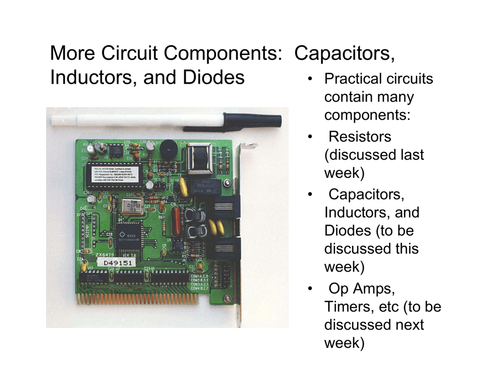 More Circuit Components Capacitors Inductors And Diodes Transformers In Electronic Circuits Analog