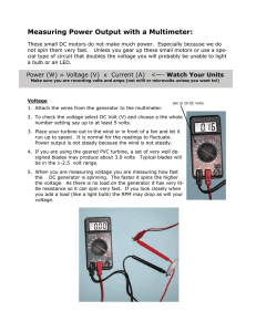 Measuring Power Output with a Multimeter: