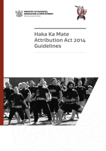 Haka Ka Mate Attribution Act 2014 Guidelines