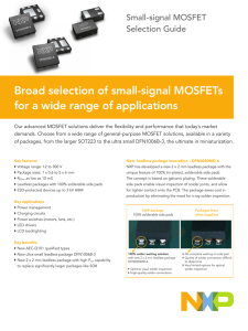 Broad selection of small-signal MOSFETs for a wide range of