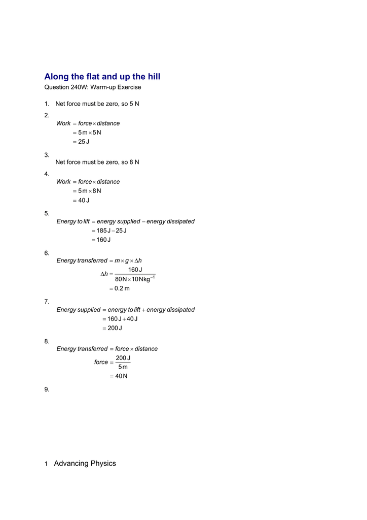 Chapter 9 - Worksheet Answers - AS-A2