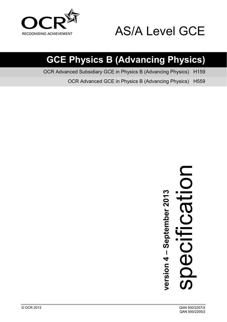 ocr b advancing physics a2 coursework