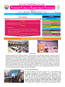 News Bulletin - Velammal College of Engineering and Technology