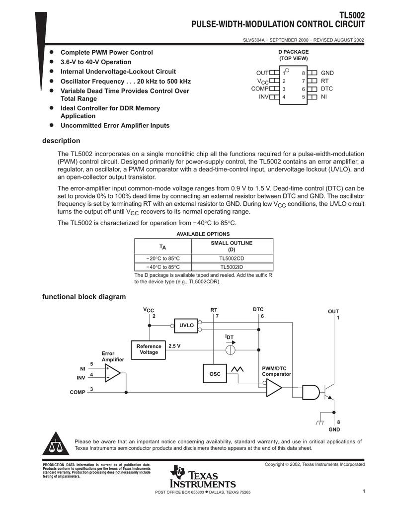 Pulse Width Modulation Control Circuit Rev A Omap 5 Block Diagram