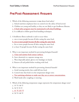 Pre/Post-Assessment Answers