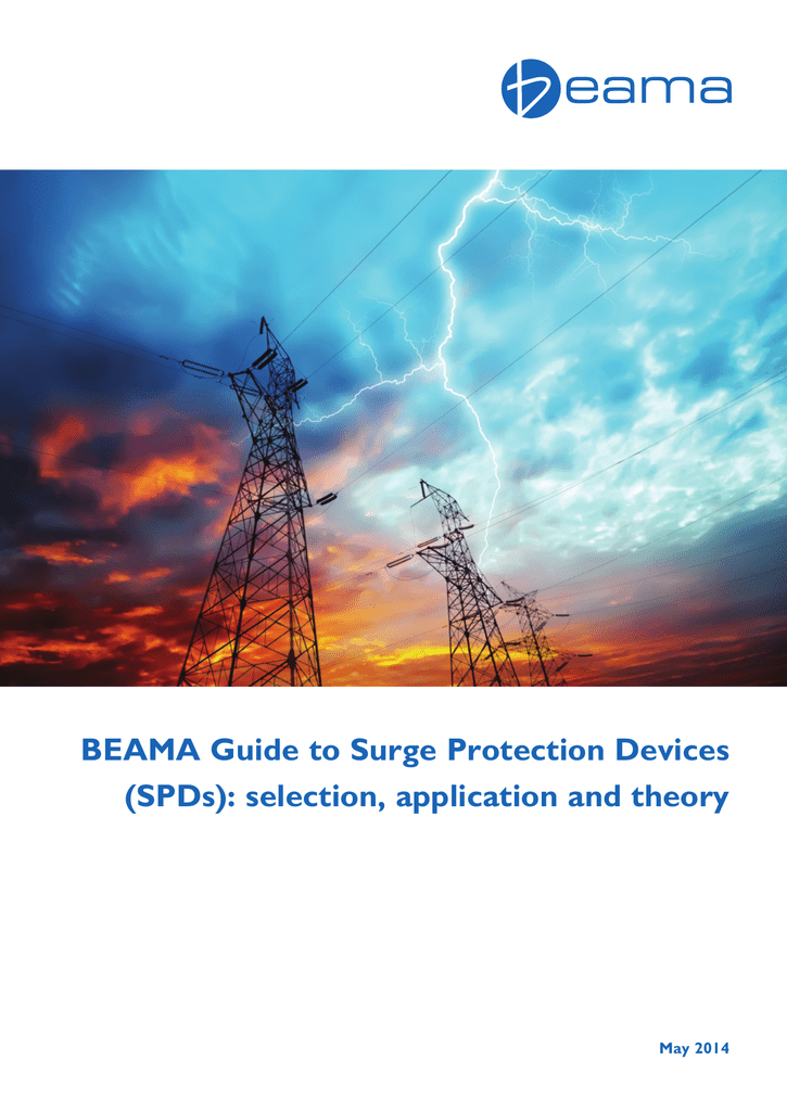 BEAMA Guide to Surge Protection Devices (SPDs): selection