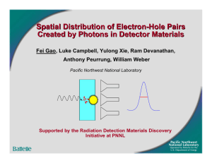 Spatial Distribution of Electron-Hole Pairs Created by Photons in