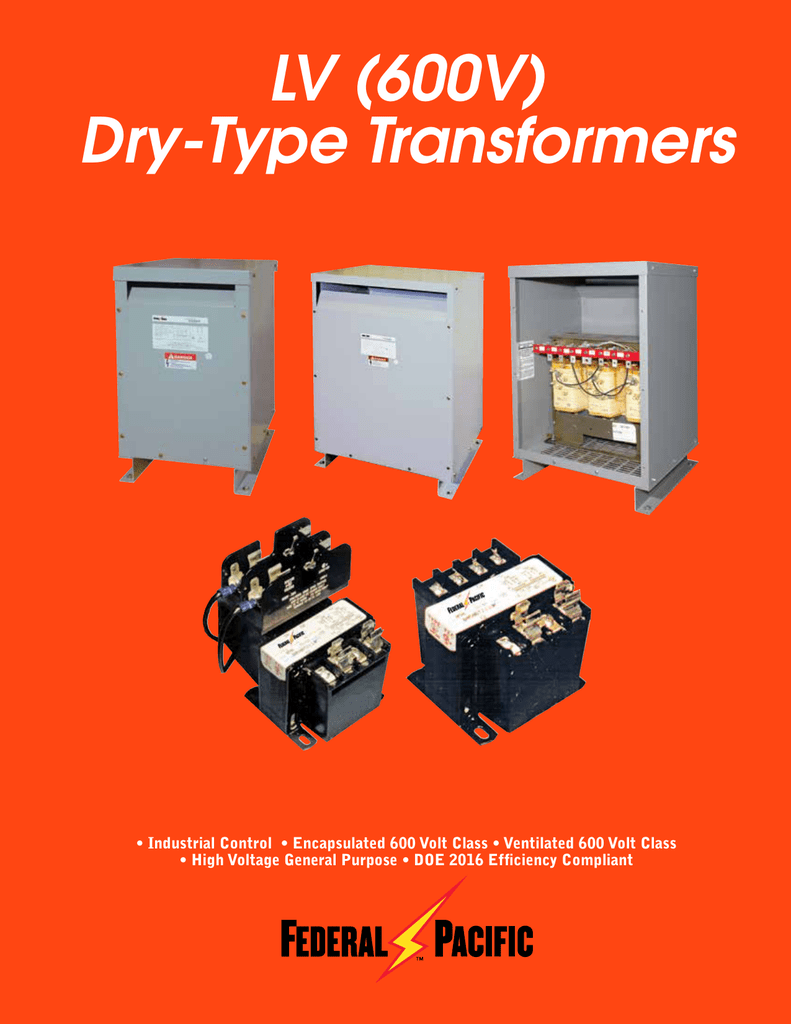 Transformer Pacific Diagram Federal Wiring T48lh2d 45 Electrical Dry Type Lv 600v Transformers