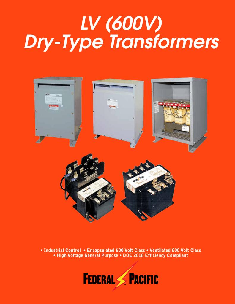 LV (600V) Dry-Type Transformers on