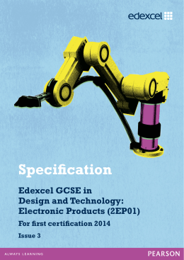 Specification - GCSE 2012 linear (current) - Edexcel
