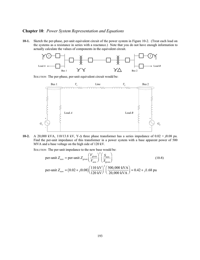Power System Representation And Equations Series Ac Circuit With Resistive Loads