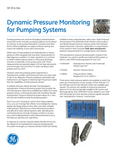 Dynamic Pressure Monitoring for Pumping Systems