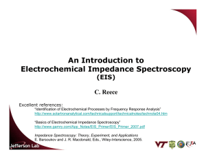 An Introduction to Electrochemical Impedance Spectroscopy