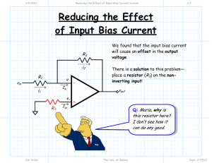 Reducing the Effect of Input Bias Current