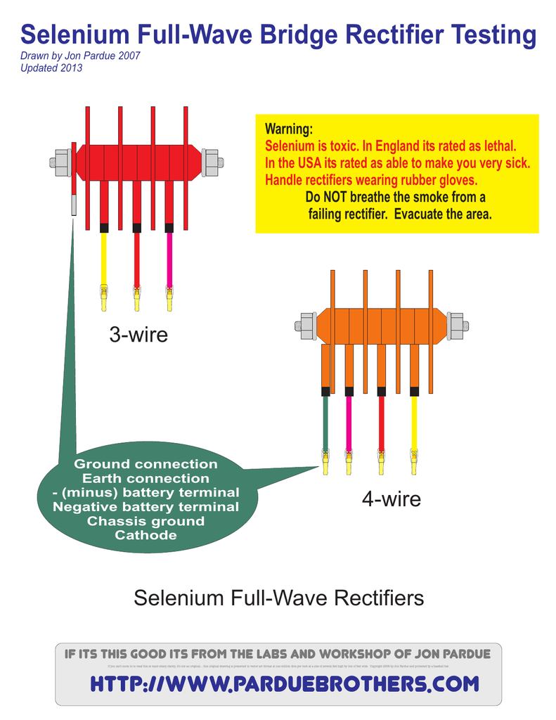 Selenium Full Wave Bridge Rectifier Testing
