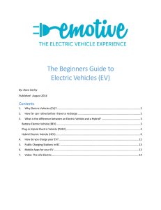 The Beginners Guide to Electric Vehicles (EV)