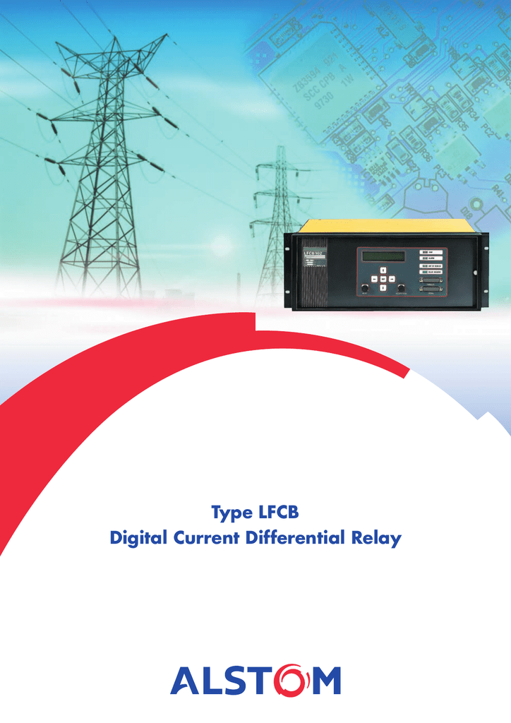Type LFCB Digital Current Differential Relay - Differential relay wiring diagram