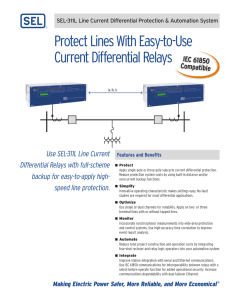 Protect Lines With Easy-to-Use Current Differential Relays